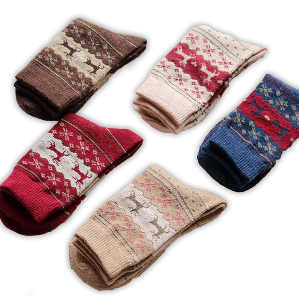 5 PACK: Cozy Winter Socks