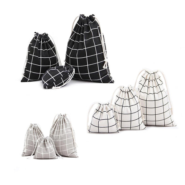 Cotton Grid Bags