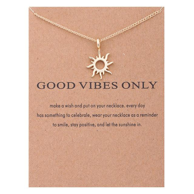 Make A Wish Necklace: Good Vibes Only - Weartro