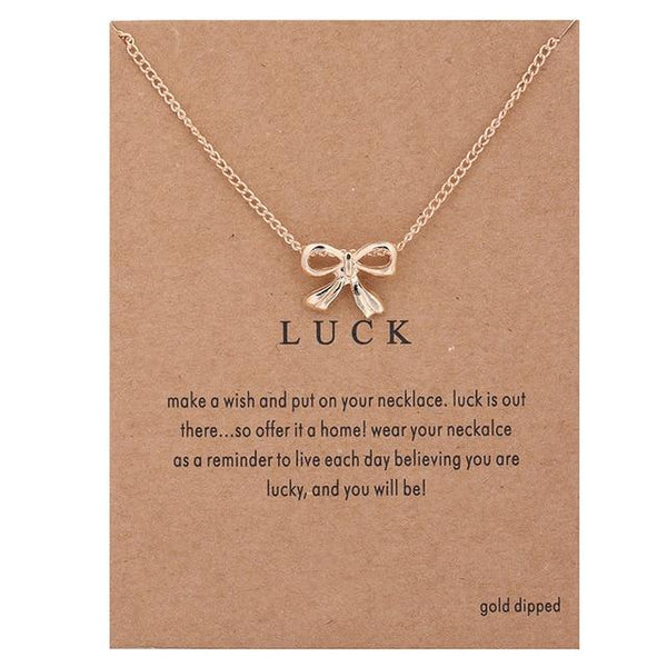 Make A Wish Necklace: Luck - Weartro