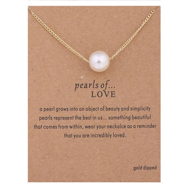 Make A Wish Necklace: Pearls Of Love - Weartro