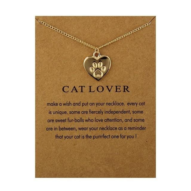 Make A Wish Necklace: Cat Lover - Weartro