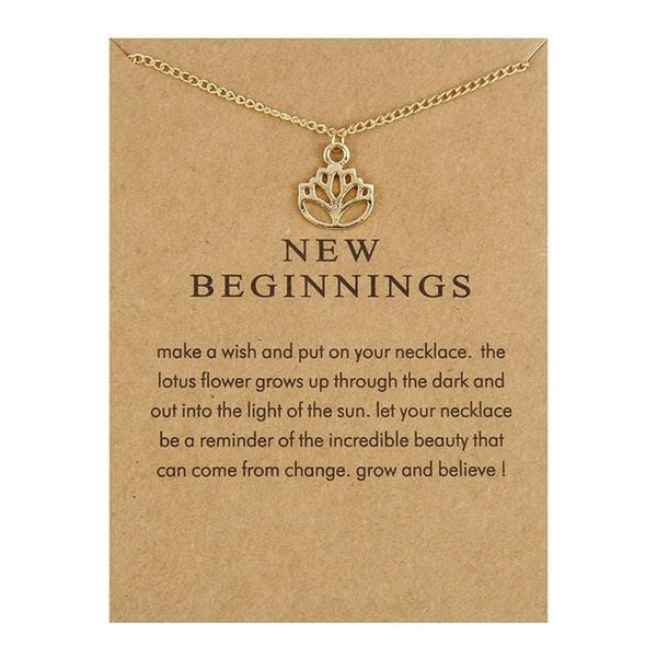 Make A Wish Necklace: New Beginnings - Weartro