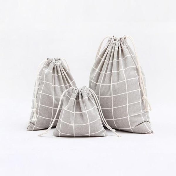 Cotton Grid Bag - Weartro