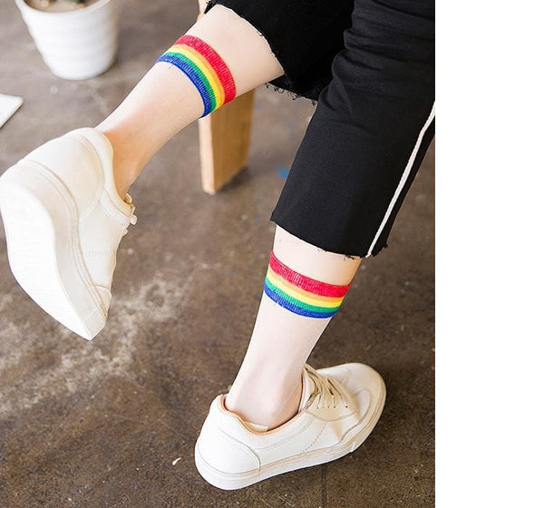 Transparent Rainbow Socks - Weartro