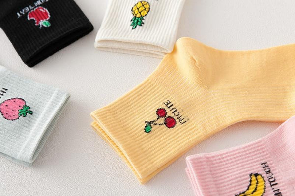 Fruit Text Socks - Weartro