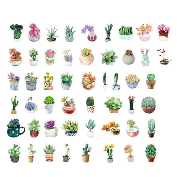 Cactus Stickers (50 pcs)