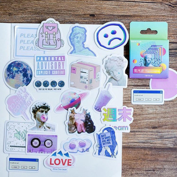 Vaporwave Stickers (46 pcs)