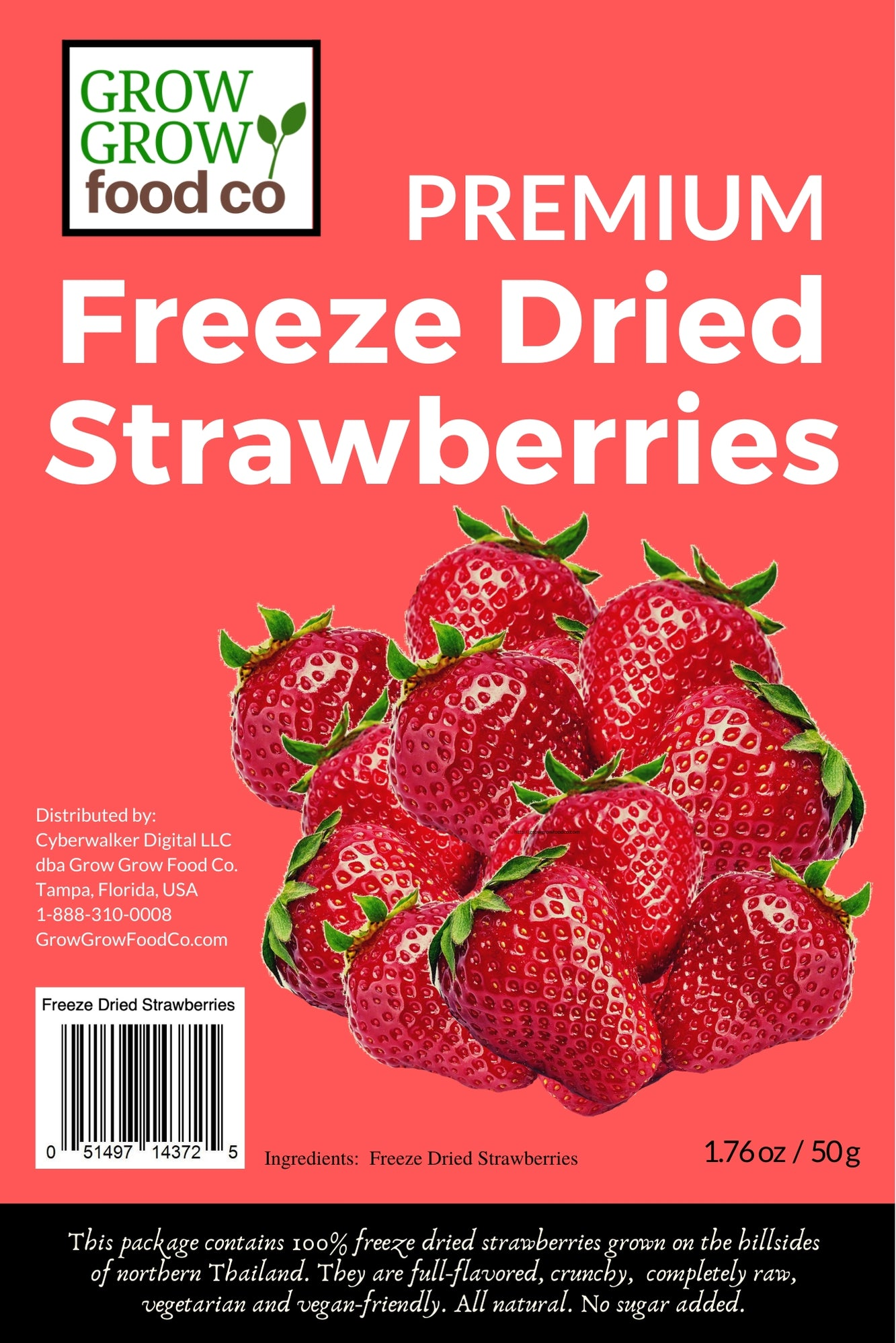 Freeze Dried Strawberries - FreezeDriedHeaven.com