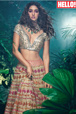 Gota And Mirror Work Lehenga Set as seen on Disha Patani