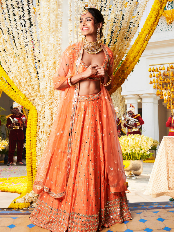 Orange Lehenga Set