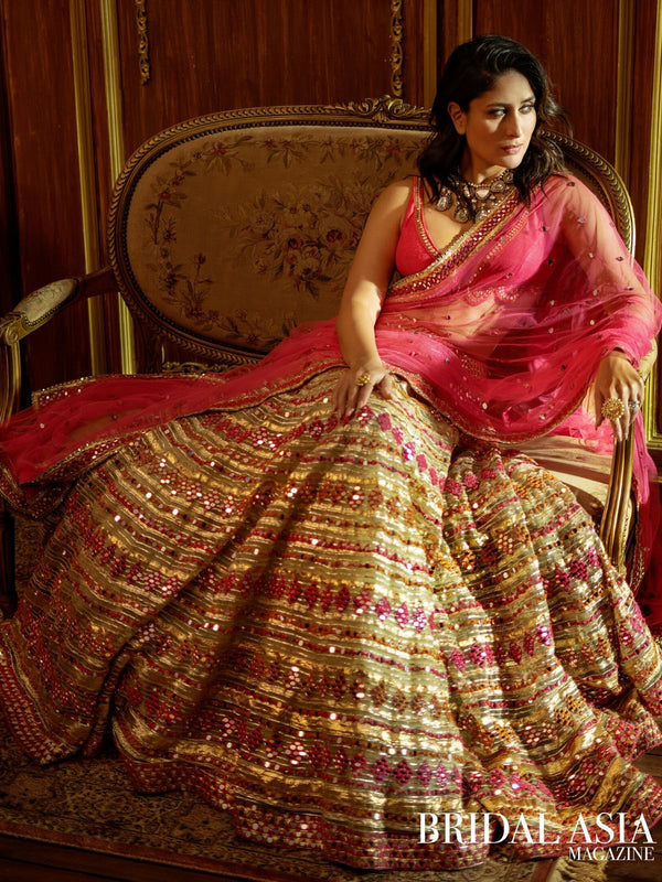 Gota And Mirror Work Lehenga Set as seen on Kareena Kapoor Khan