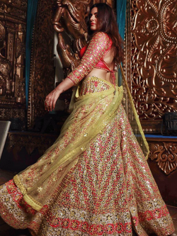 Shereen Sikkha Bharwani In Multicoloured Mirror Work Lehenga Set