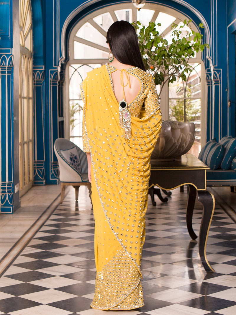 Sunshine Yellow Saree