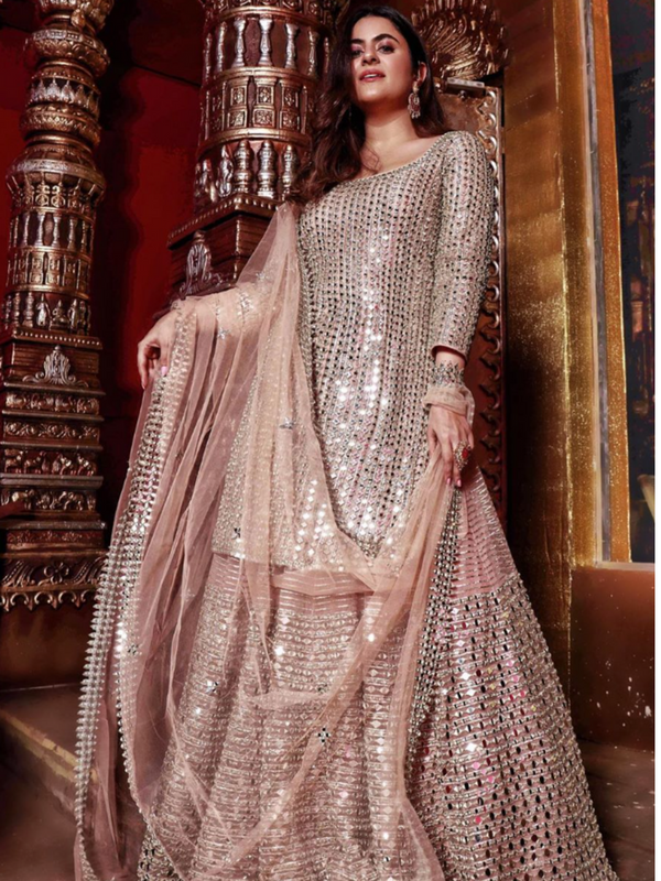 Shereen Sikkha Bharwani In Peach Embellished Sharara Set