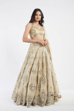 Golden Embellished Lehenga Set