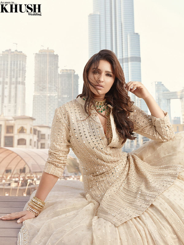 Beige Kurta & Skirt set as seen on Parineeti chopra