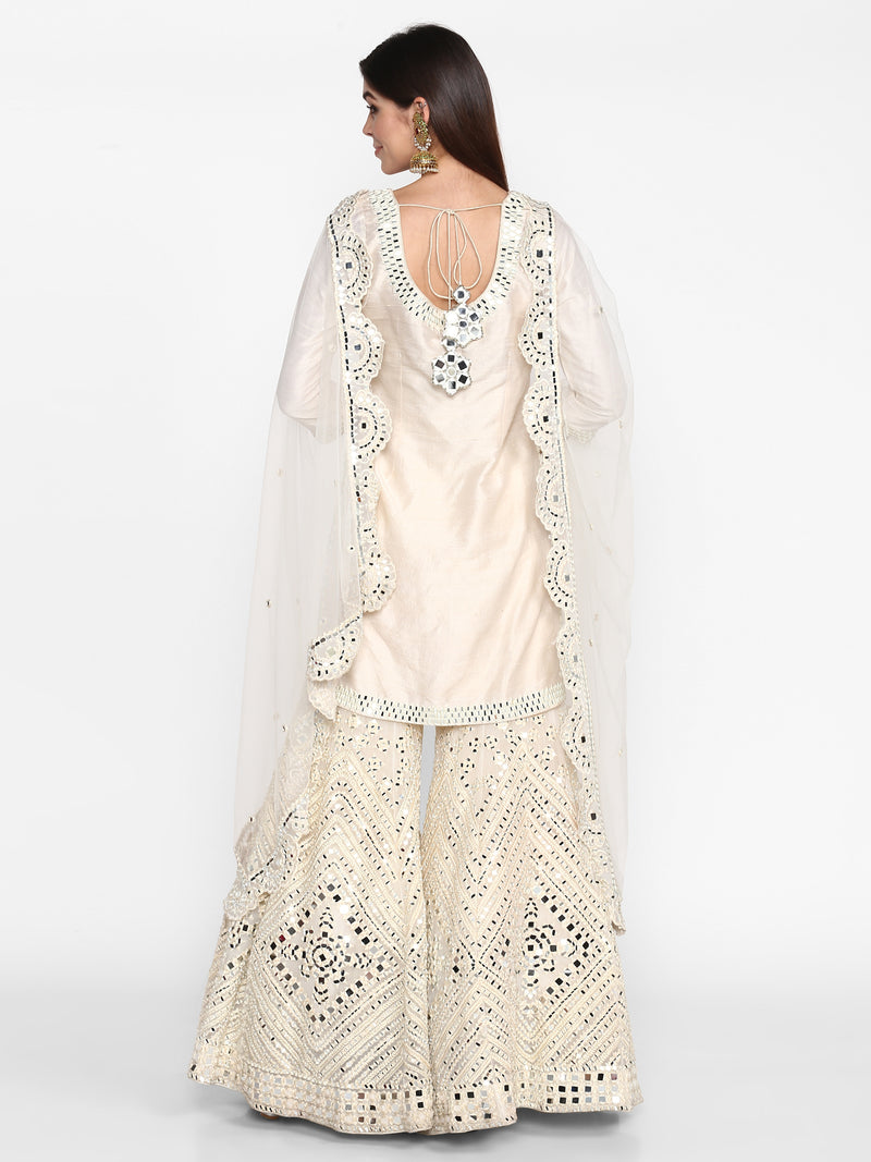 Beige Sharara Set