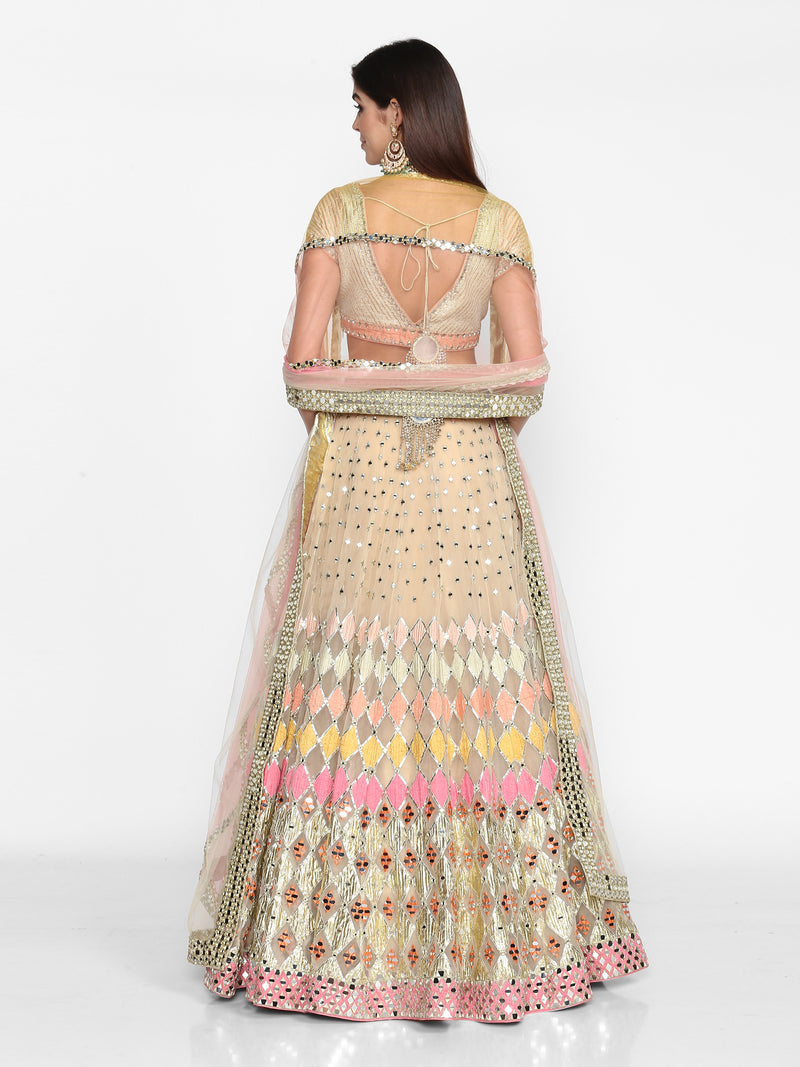 Multicolour Embellished Lehenga Set