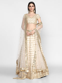 Off White Lehenga Set with Dupatta