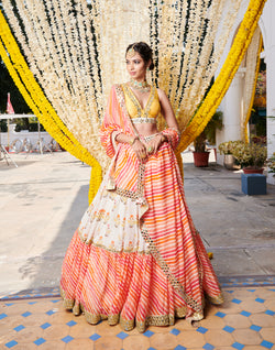 Digital Printed Lehenga Set With Dupatta