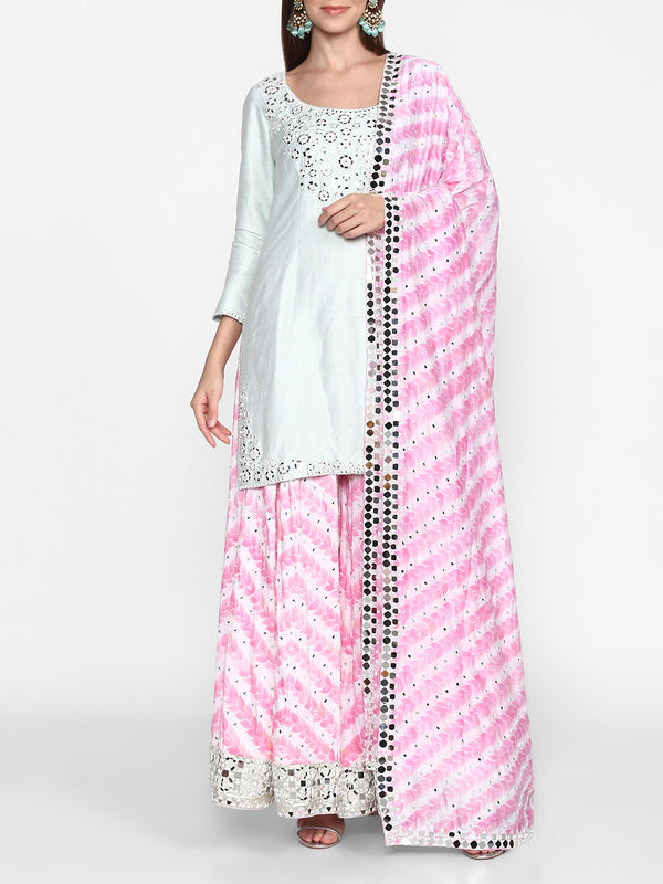 Printed Sharara Set