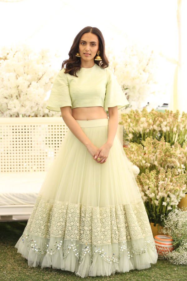 Mint Green Lehenga Set