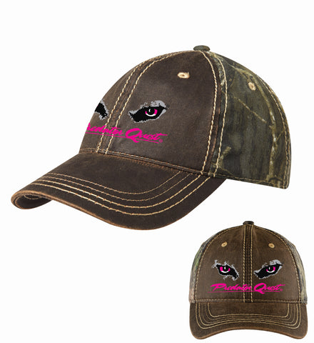 Port Authority® Pigment Print Camouflage Cap with pink embroidered Predator Quest logo
