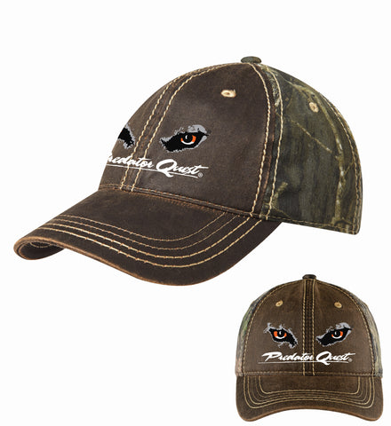 Port Authority® Pigment Print Camouflage Cap with white embroidered Predator Quest logo