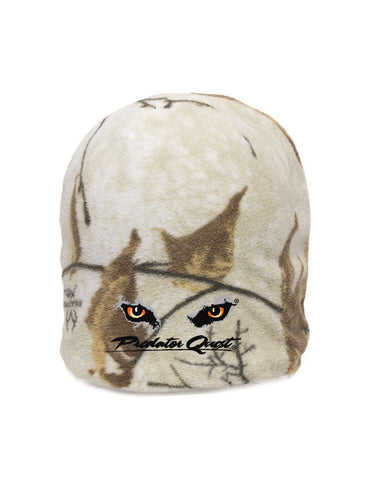 Outdoor Cap  Fleece Camo Beanie with embroidered Predator Quest logo