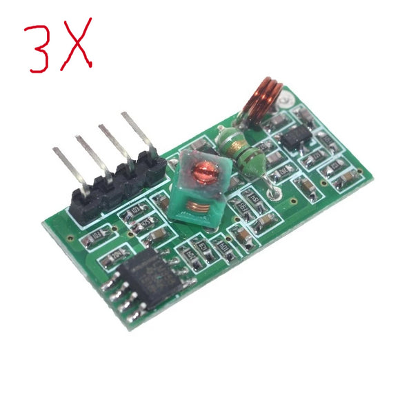 3pcs of 315Mhz RF Transmitter Receiver Module - Wireless ASK 315 Mhz Tx Rx pair