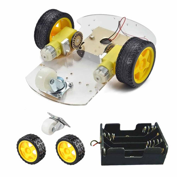 DIY 2-Wheel Smart Robot Car Chassis Kit For Arduino Black + Yellow