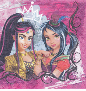 Servetel Decorativ de Petrecere Party Tehnica Decoupage Disney Fetite Descendants Movie Disney Descendentii
