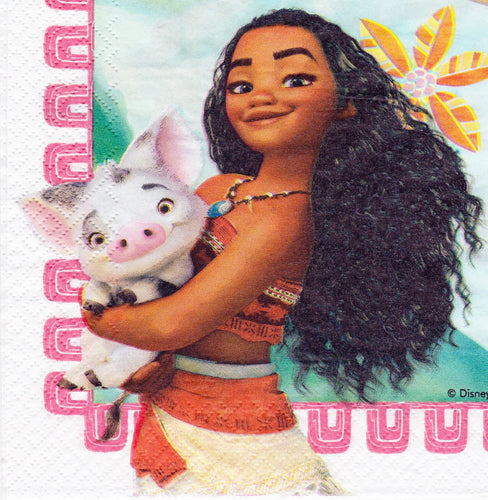 Servetel Decorativ de Petrecere Party Disney Fetite Moana Vaiana Wild Princess