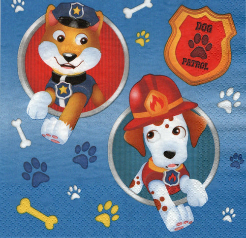 Servetel Decorativ Tehnica Decoupage sau de Colectie 33x33 cm Dog Patrol Patrula Cateilor Disney Catelusilor