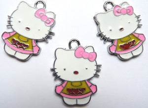Martisor primavara metal Hello Kitty roz MART_0048