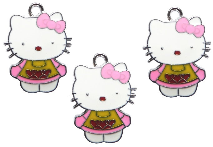 Martisor din Metal Primavara Pisicuta Hello Kitty Roz
