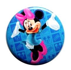 Brosa Insigna Martisor de Primavara din Metal Copii Disney Pink Happy Minnie Mouse
