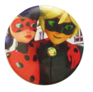 Brosa Insigna Martisor din Acril Copii Disney Lady Bug si Cat Noir 1 8 Martie