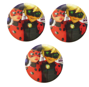 Brosa Insigna Martisor din Acril Copii Disney Lady Bug si Cat Noir Primavara
