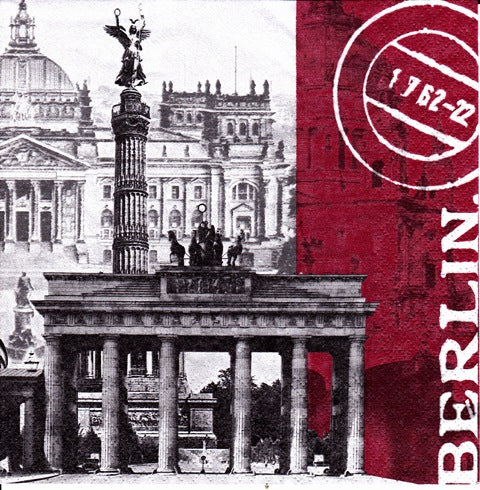 Servetel Tehnica Decoupage de Masa Decorative ORL_0059 Berlin card