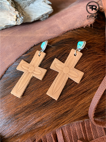 Traverse Cross Earrings