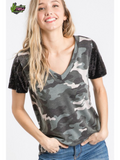 The Carolina Camo Top