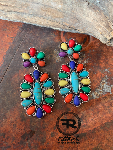 Showy Cluster Earrings