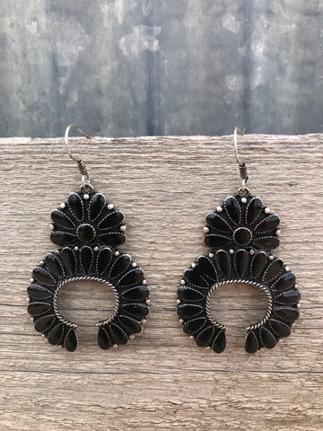 Black Squash Earrings