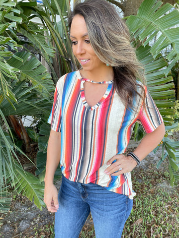The West Bound Serape Top