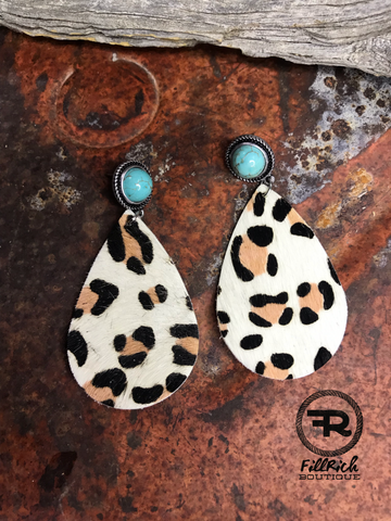 The Turquoise Leopard Earrings