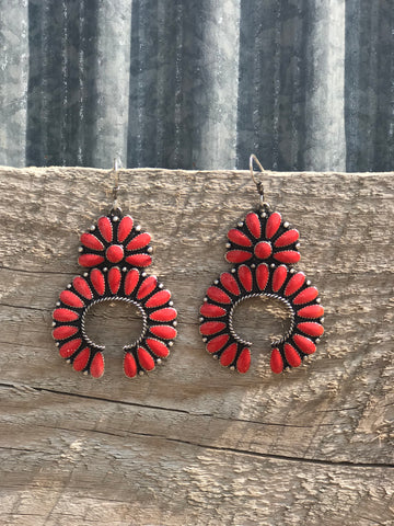 Red Squash Earrings