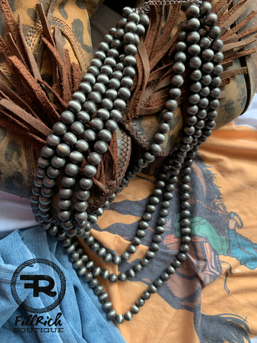 Four Strand Navajo Bead Necklace