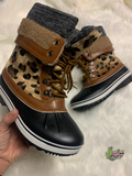 The Lacey Leopard Boots